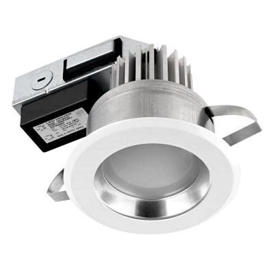 globe electric 4 in ic white integrated dimmable