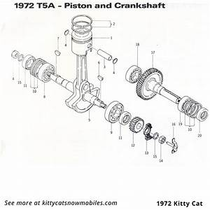 72 Kitty Cat Piston And Crankshaft Parts