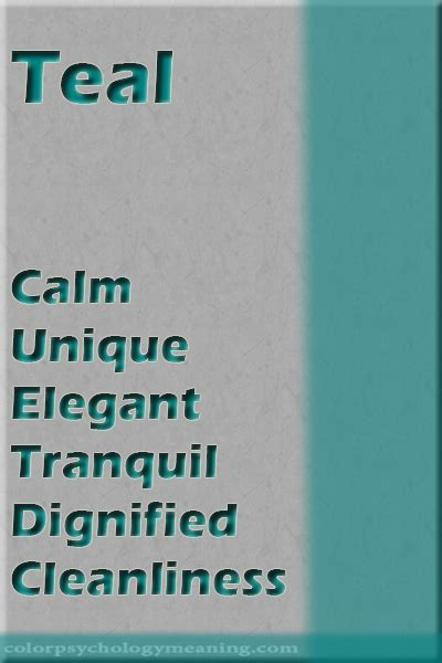 teal color color psychology personality meaning