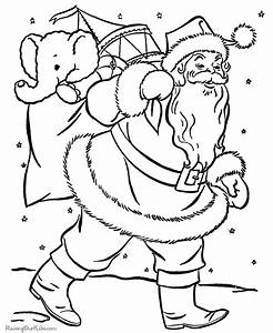 Santa Color Page Coloring Home