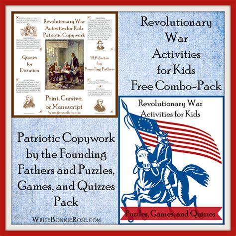 revolutionary war activities  kids combo pack