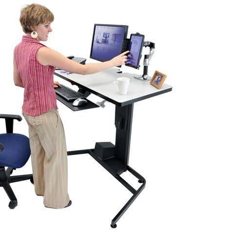position ergonomique bureau ergotron workfit d sit stand desk bras pied ergotron
