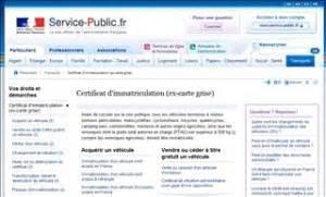 Service Public Carte Grise : informations du service public sur la carte grise carte grise ~ Medecine-chirurgie-esthetiques.com Avis de Voitures