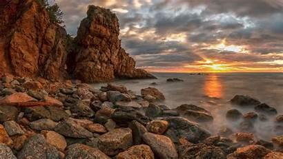 Spain Catalonia Landscape Wallpapers Desktop Sunset Landscapes