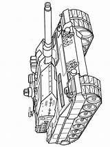 Coloring Pages Army Tanks Military Printable Vehicles Transportation sketch template