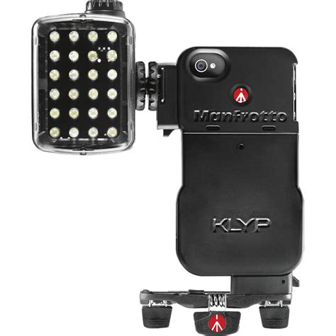 light on iphone manfrotto klyp for iphone 4 4s ml240 led light
