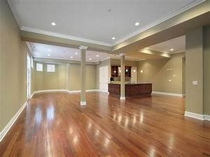 finished basement ideas on a budget wood floor ideas With 3 basement flooring options best ideas basement