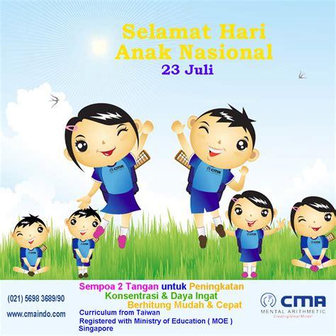 selamat hari anak nasional cma mental arithmetic indonesia