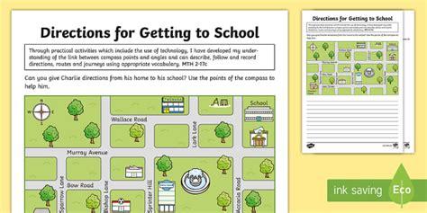 school directions worksheet worksheet esl
