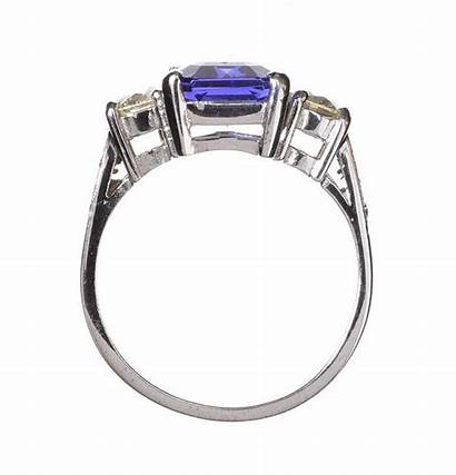 Tanzanite Gold 18ct Ring Diamond Lot