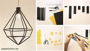 Lámpara hecha a mano con diseño minimalista Manualidades