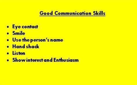 my goal for today communication skills tony