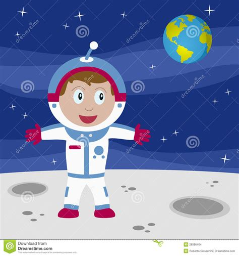 astronaut on moon clipart astronaut boy on the moon stock images image 28586404