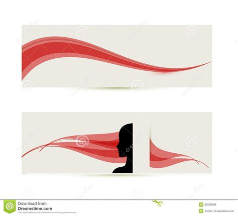 banner templates  female profile silhouette royalty