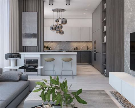 simple modern apartment  moscow
