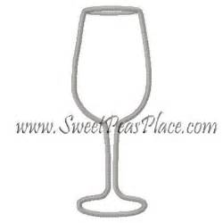 Glass Applique by Wine Glass Applique Embroidery Design Embroidery