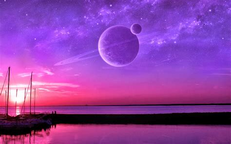 Photo Manipulation Mexico Boat Sunset Planet Space Planetary Rings Silhouette Wallpapers