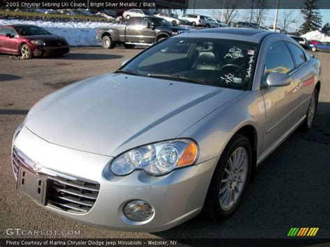 2003 Chrysler Sebring Lxi Coupe by 2003 Chrysler Sebring Lxi Coupe In Bright Silver Metallic