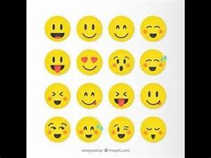 How to draw:10 cute smiley faces - YouTube