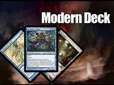 modern deck mtg mtg modern deck tech u r faeries