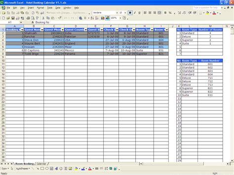 availability calendar template booking calendar excel templates