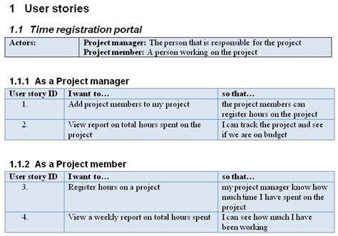 Ais Reading Resume by User Story Template E Commercewordpress
