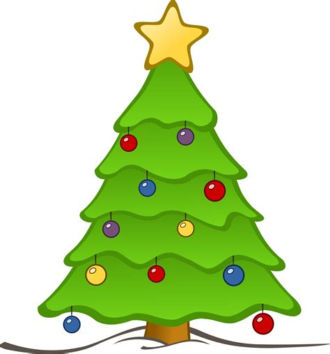 clipart drawing christmas tree