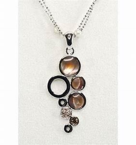 parure de bijoux femme design grappe de nacre noire With bijoux en nacre