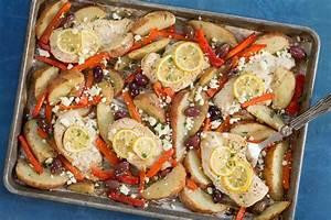 Sheet Pan Chicken Souvlaki and Potatoes