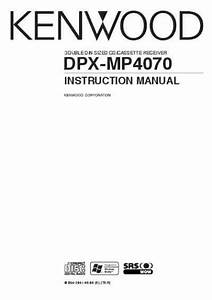Kenwood Dpx-mp4070 Receiver Download Manual For Free Now