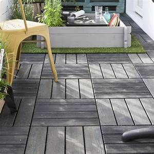 terrasse en bois 5 idees d39amenagement a copier With dalles clipsables pour terrasse
