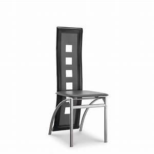 Lot De 6 Chaises Salle à Manger : eiffel lot de 6 chaises de salle manger noires et blanches simili et aluminium design ~ Teatrodelosmanantiales.com Idées de Décoration