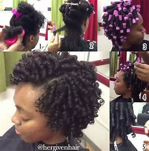 How to: Flawless Protective Rod Sets on Natural Curly Hair Beautiful, Natural and Blog