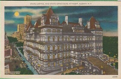 Vintage New York NY Postcard State Capitol & State Office