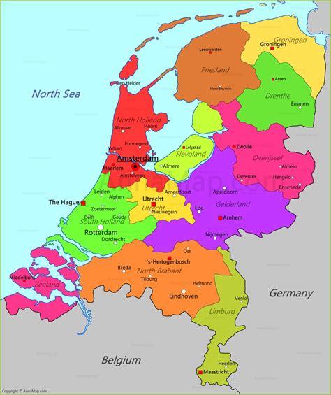 netherlands map map  netherlands annamapcom