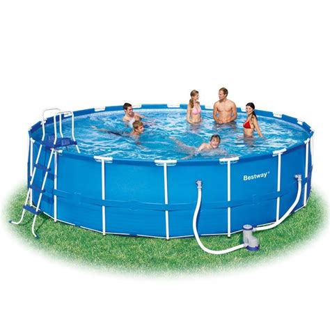 ft   steel framed pool bestway  outdoor toy