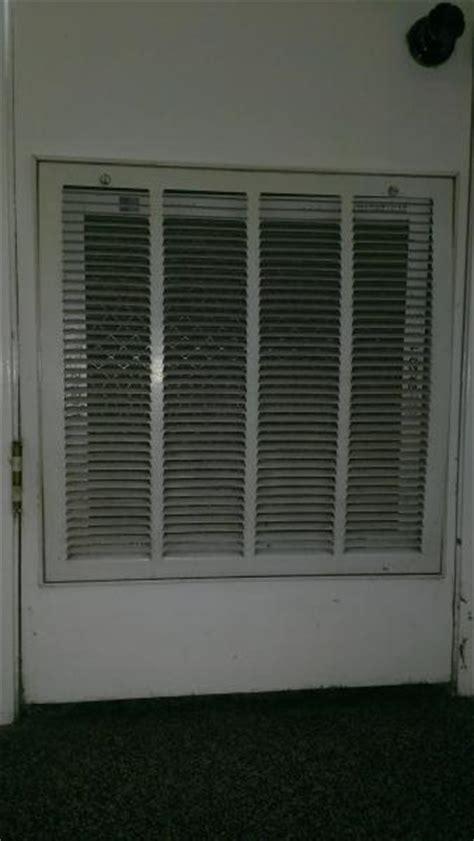 proper clearanceseal  door  air handler room