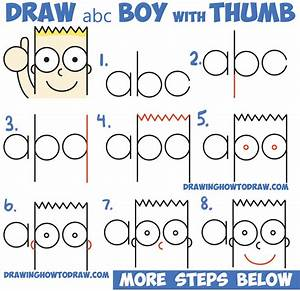 "How to Draw Cute Cartoon Boy / Kid With Thumb Up from ""abc ..."