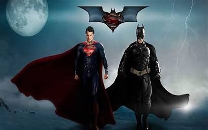 Superman Batman Wallpapers Super Screen Superhero Dual