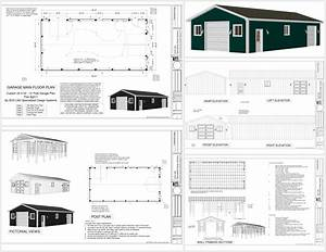 G511 24 x 50 pole barn 9 plans for 50 x 100 pole barn plans