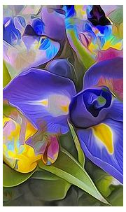 Abstract Painting of an Iris HD Wallpaper | Background ...