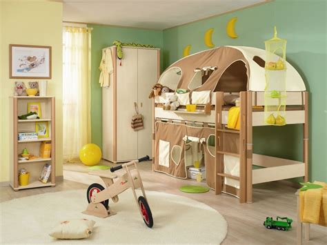 Functional Kids Room With Play Tent Bunk Beds For Kids