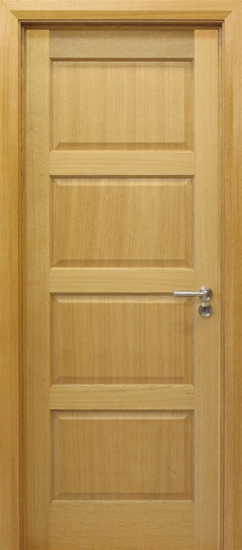 Oak Doors by Contemporary 4 Panel White Oak Door 40mm