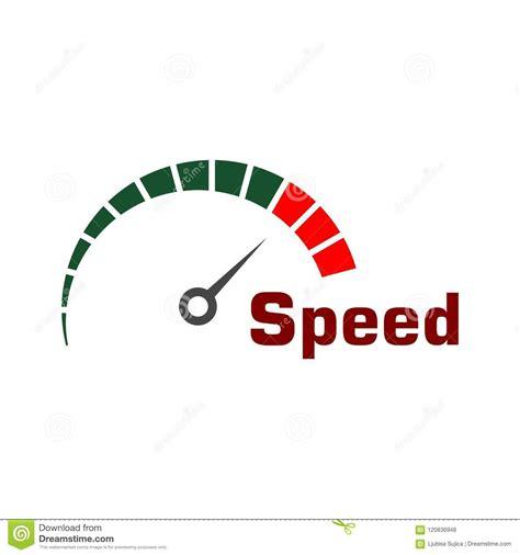 Speedometer Logo, Speed Meter Vector Design Stock