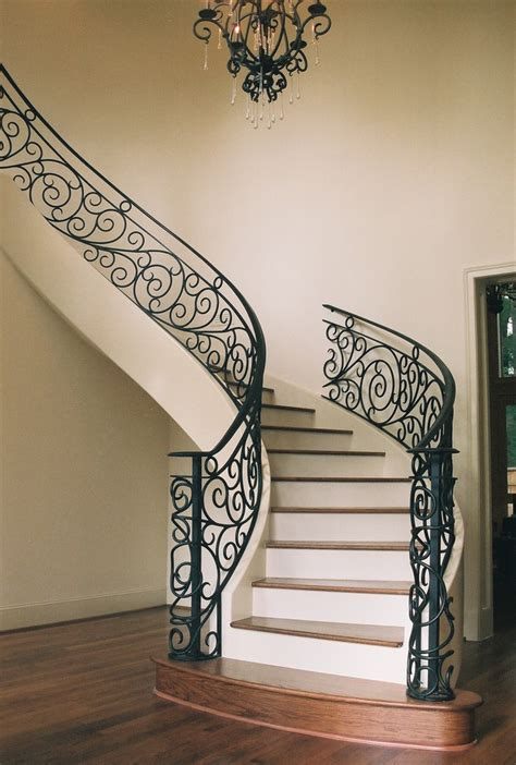 Wrought Iron Stair Railings For Stunning Interior. Wrought Iron Staircase. White Wave Granite. Modern Leather Sectional. Starmark Cabinets. Pictures Of Small Bathrooms. Viatera Minuet. White Fabric Headboard. Maria Theresa Chandelier