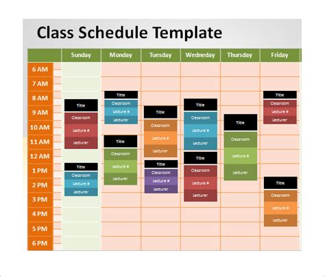 powerpoint schedule template   word excel