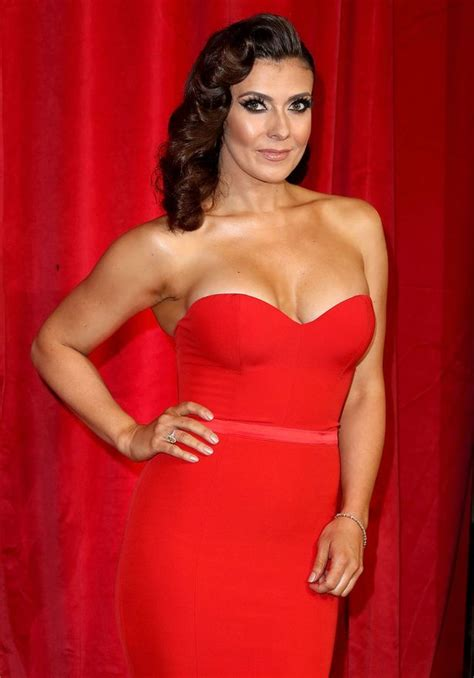 Plunging Necklines With Red Hot Glamour Stephanie Waring