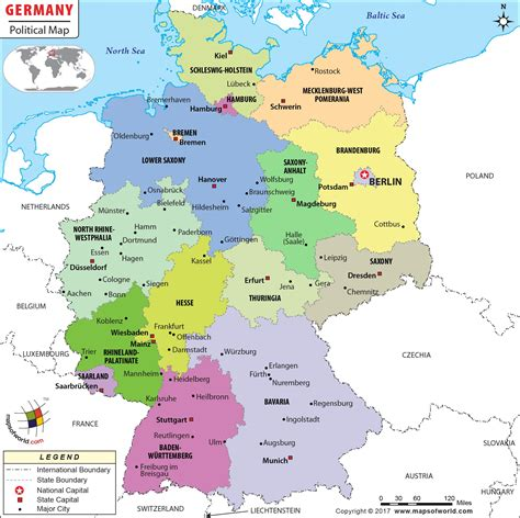 physical map  germany  kids  travel information