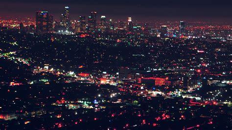 wallpaper  desktop laptop  city view night light red