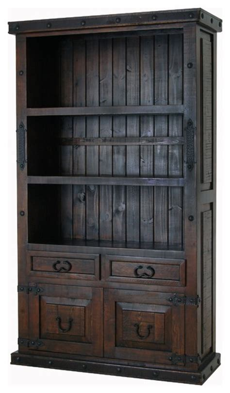 rustic bookcase with doors hacienda bookcase with doors rustic bookcases by